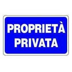 Cartello segnaletico proprietà privata
