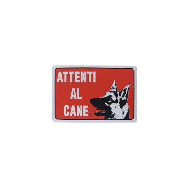 Cartello segnaletico attenti al cane