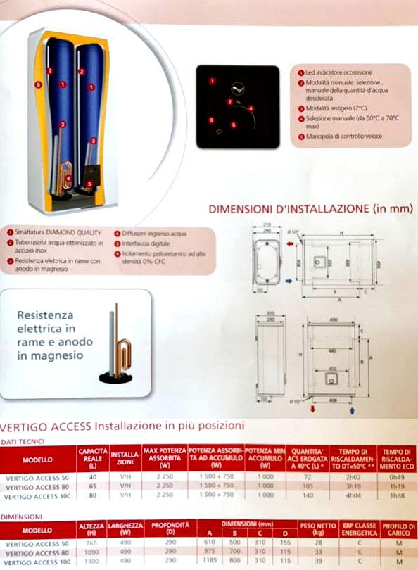 Scaldabagno elettrico atlantic ad accumulo vertigo access - Scaldabagno sottolavello installazione ...