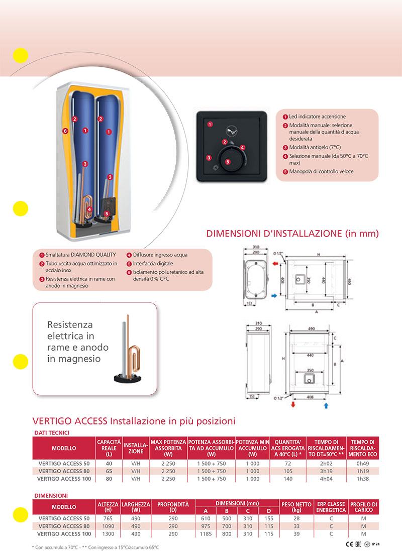 Scaldabagno elettrico atlantic ad accumulo vertigo access - Montaggio scaldabagno elettrico ...
